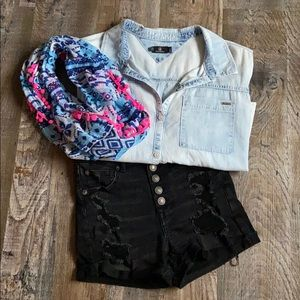 American Eagle button fly shorts